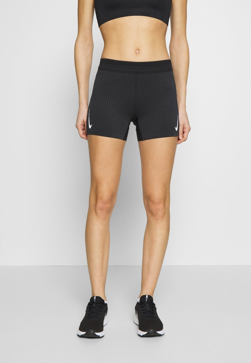 Nike Performance - AEROSWIFT SHORT - Tights - black/white
