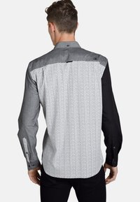 SHIRTMASTER - BLACKGREYANDDOTS - Chemise - gray black patterned - 1