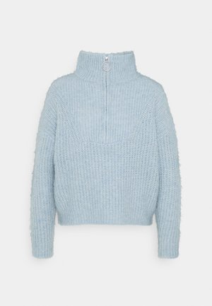 ONLEMILY LIFE ZIP - Pullover - blue fog/melange