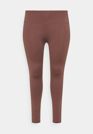 HIGHWAIST LEGGING CURVE - Medias - rose/brown