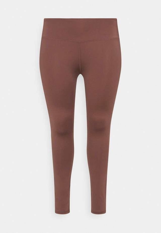 HIGHWAIST LEGGING CURVE - Legging - rose/brown
