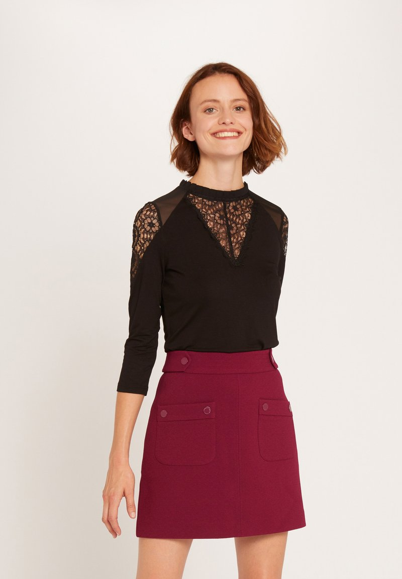 Morgan - TISHIR - Long sleeved top - black