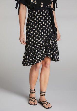 A-line skirt - black offwhite