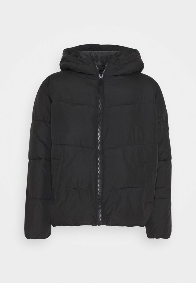 SARA HOODED BOXY PUFFER - Winter jacket - black
