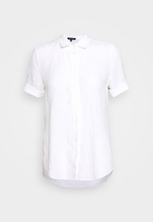 BLOUSE SHORT SLEEVE BUTTON THROUG STYLE - Button-down blouse - white
