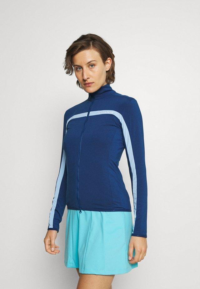 SEASONAL JANICE MID LAYER - Felpa con zip - midnight blue