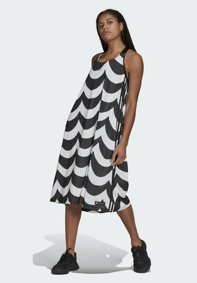 adidas Originals - X MARIMEKKO - Vestido camisero - black/white