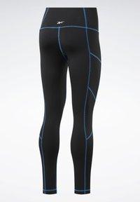 Reebok - MYT CONTRAST STITCH LEGGINGS - Tights - black - 8