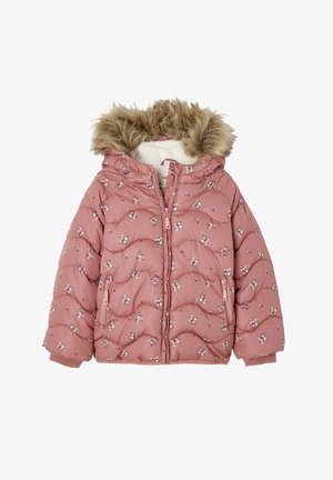 Winter jacket - rosa bedruckt
