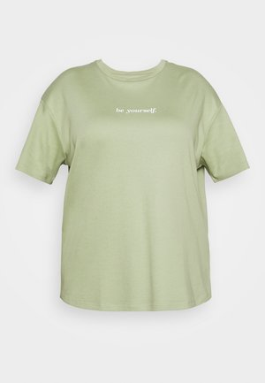 BE YOURSELF SHORT SLEEVE - Jednoduché triko - green