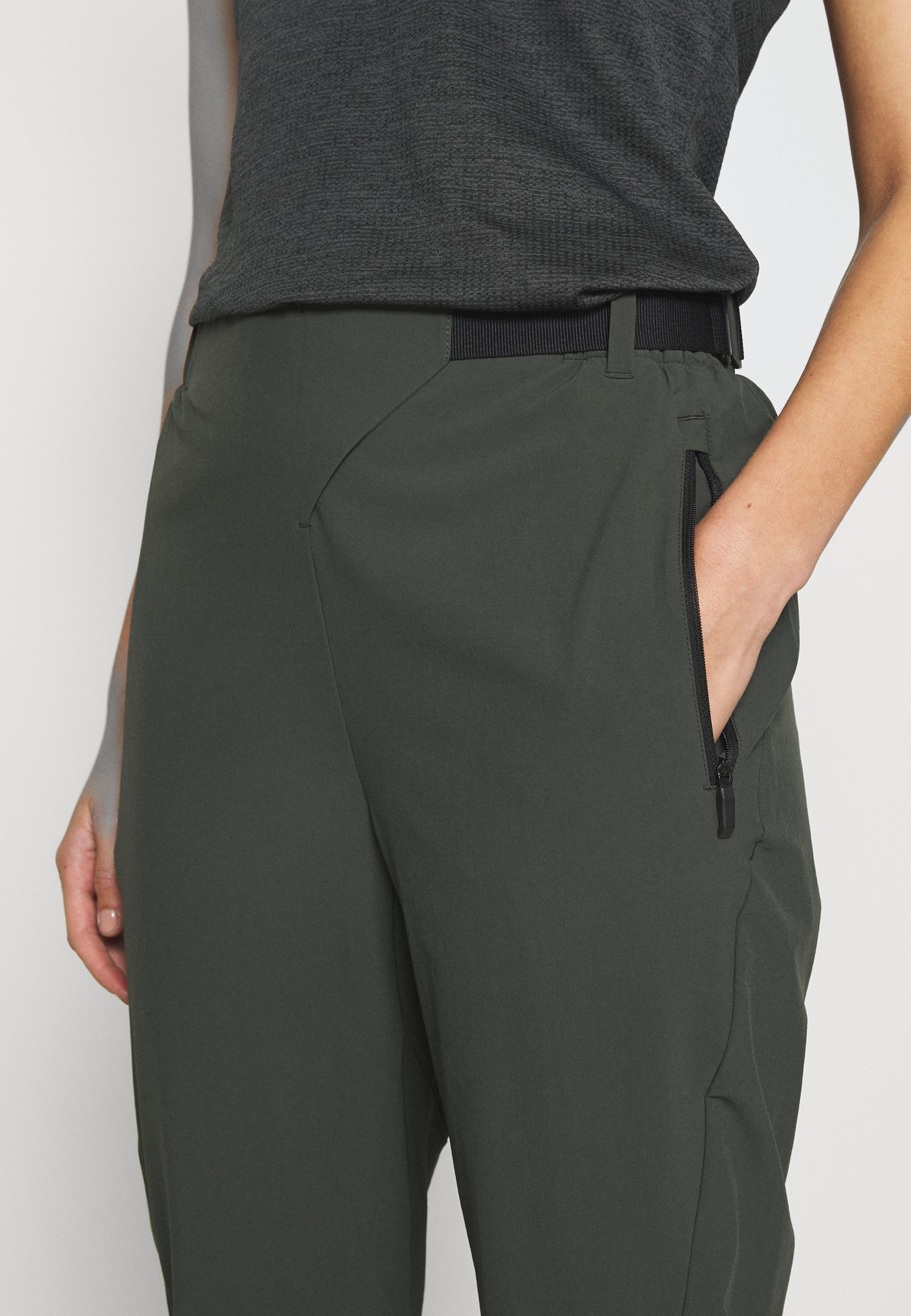 adidas Performance HIKE TECHNICAL HIKING PANTS - Trousers - dark green y7t7D