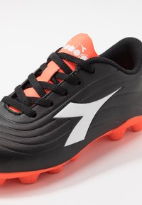 Diadora - PICHICHI 2 MD - Moulded stud football boots - black/white/red fluo - 2