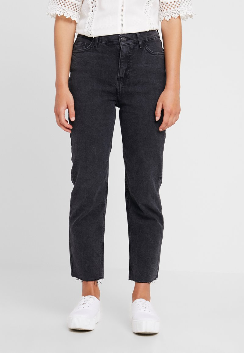 New Look Petite - STRAIGHT CROP HARLOW - Jeans Straight Leg - black