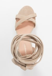 Even&Odd - LEATHER - High heeled sandals - sand - 3