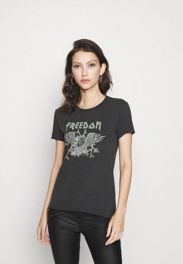 ONLLUCY ROCK - T-shirt imprimé - black