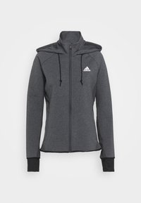 adidas Performance - Training jacket - dark grey/white - 5