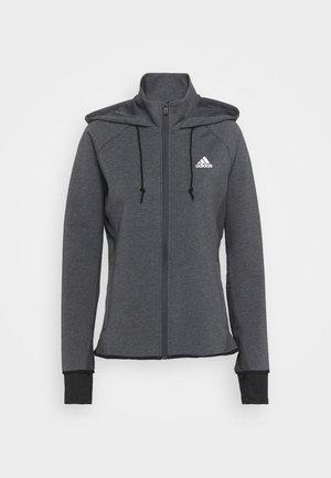 Training jacket - dark grey/white