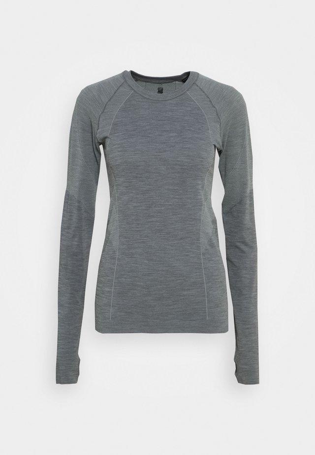 ATHLETE SEAMLESS WORKOUT - T-shirt sportiva - charcoal grey