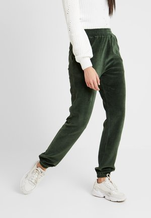 CUFFED JOGGERS - Tracksuit bottoms - rain forest