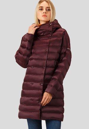 Down coat - dark red