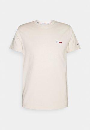 CHEST LOGO TEE - T-shirt - bas - smooth stone