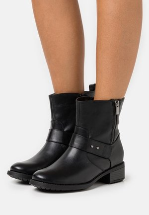 WIDE FIT BOOT - Classic ankle boots - black