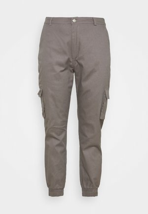 PLUS SIZE PLAIN TROUSER - Pantalon cargo - grey