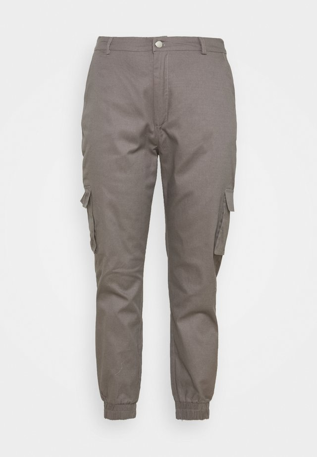 PLUS SIZE PLAIN TROUSER - Pantaloni cargo - grey