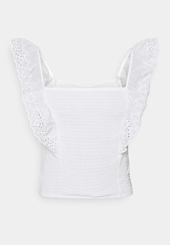 VIIRLA CROPPED TOP - Topper - snow white