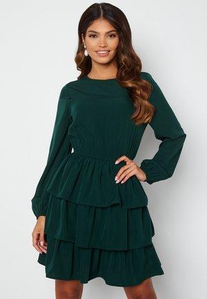ASTRID FLOUNCE - Jersey dress - dark green