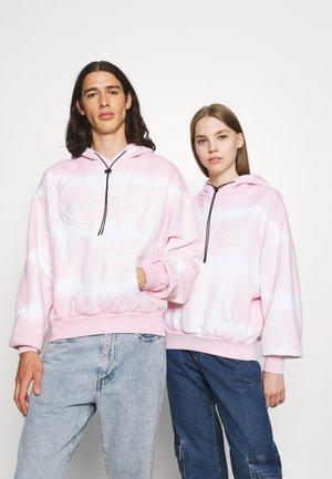 SIGNATURE TIP DYE HOODIE UNISEX  - Zip-up sweatshirt - rose