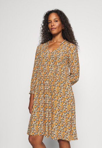 DRESS WITH SHINY DETAILS - Day dress - deep blue