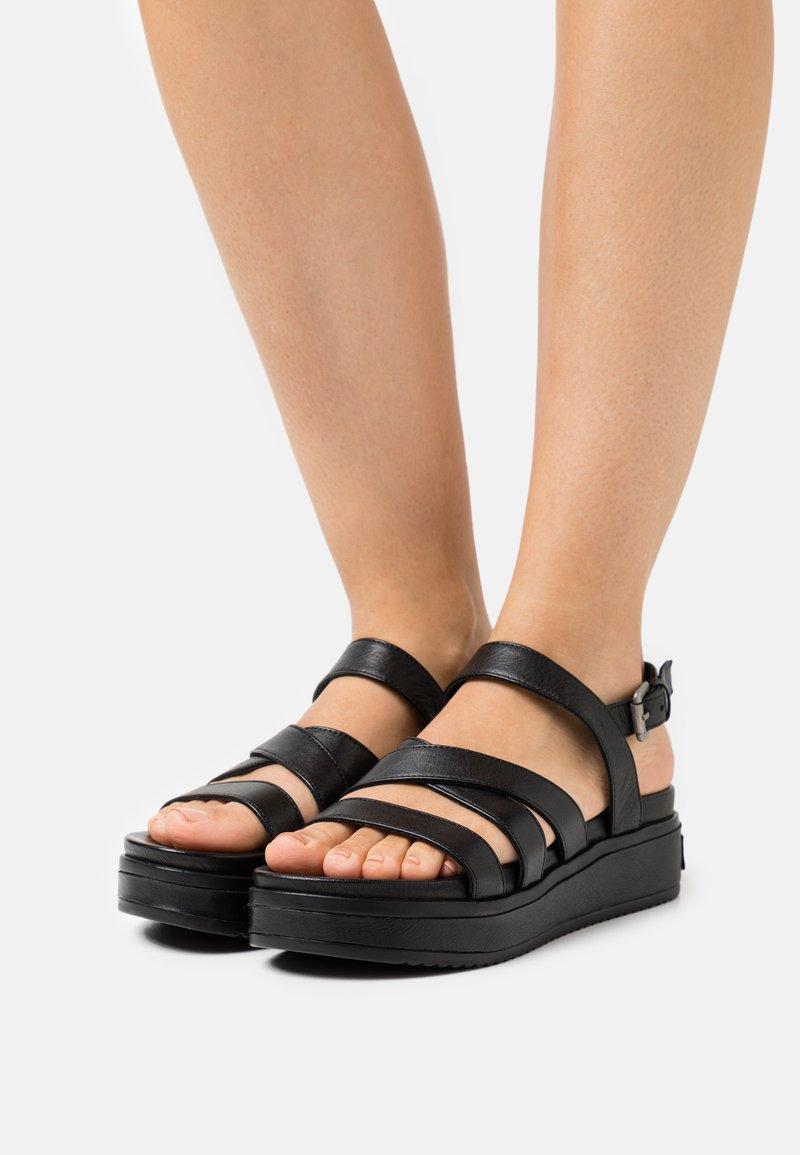 Shabbies Amsterdam - Platform sandals - black