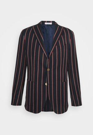 Blazer jacket - dark blue/red