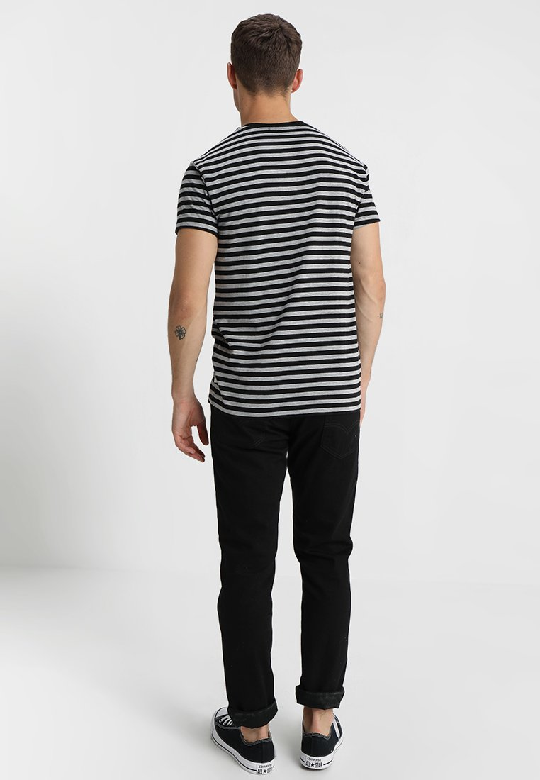 Samsøe Samsøe PATRICK - Print T-shirt - black/grey EPT3I