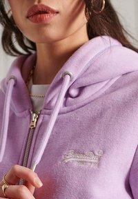 Superdry - ORANGE LABEL - Zip-up sweatshirt - lavender marl - 1