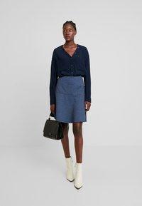 TOM TAILOR - SKIRT CASUAL - Mini skirt - navy blue - 1