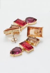 Pieces - PCKRYSTALOS EARRINGS - Earrings - gold-coloured/red - 2