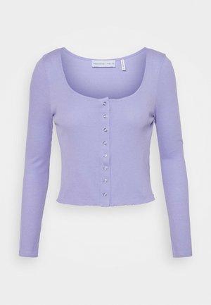 NU-IN X STEFANIE GIESINGER NECK LONG SLEEVE - Cardigan - lavender