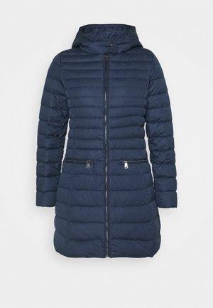 MATTE FINISH COAT - Down coat - navy