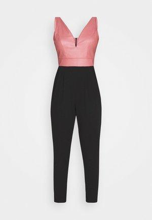 Jumpsuit - black/dark blush pink