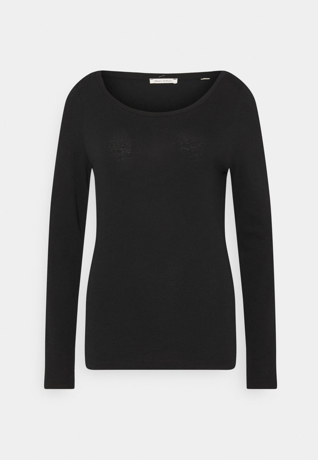 LONG SLEEVE ROUND NECK - Top sdlouhým rukávem - black