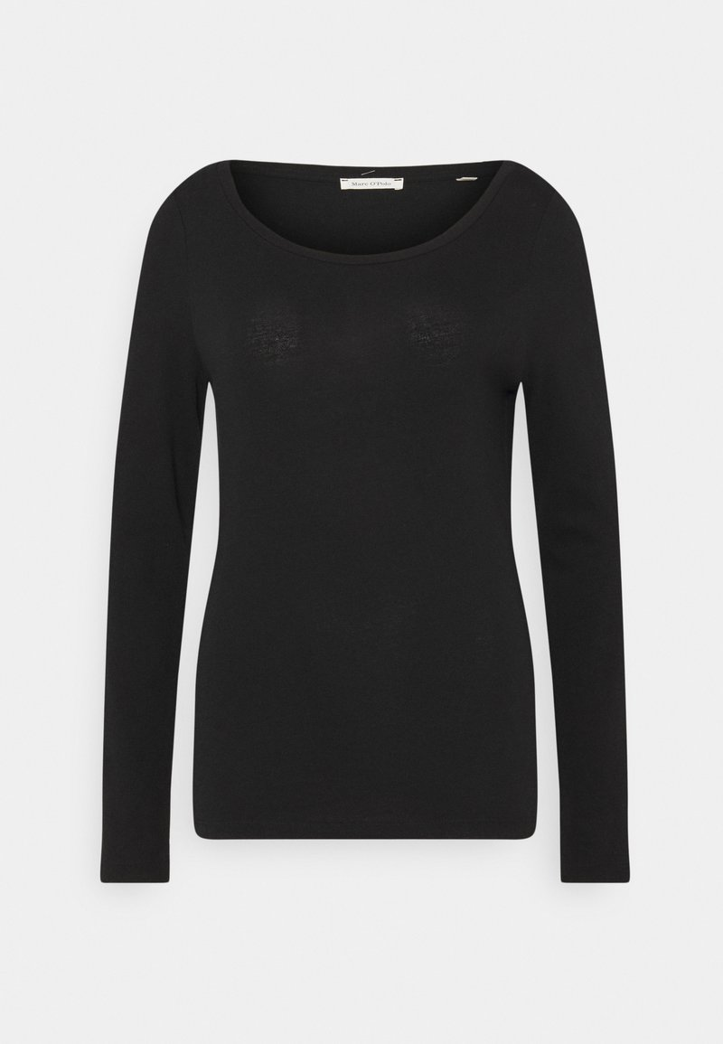 Marc O'Polo - LONG SLEEVE ROUND NECK - Long sleeved top - black