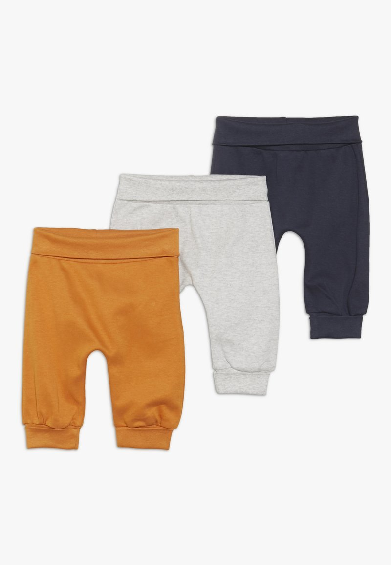 Sense Organics - SJORS BABY PANT 3 PACK - Pantalon classique - mustard/navy/grey melange
