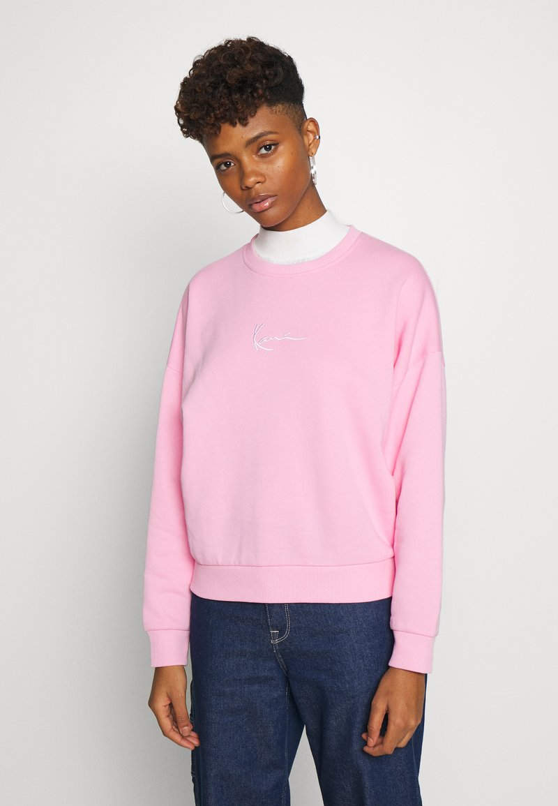 Karl Kani - SIGNATURE CREW - Sweatshirt - pink/white