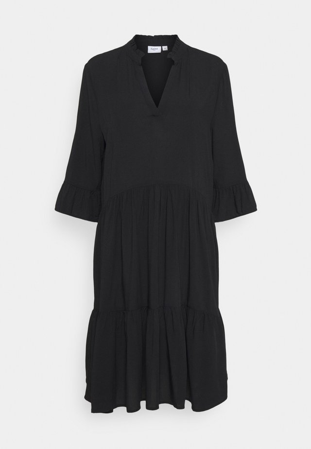 EDASZ SOLID DRESS - Hverdagskjoler - black
