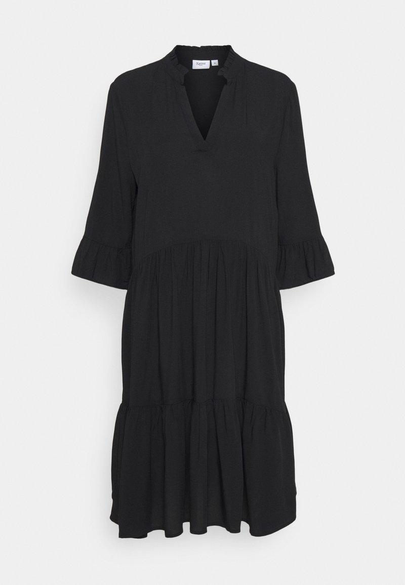 Saint Tropez - EDASZ SOLID DRESS - Day dress - black