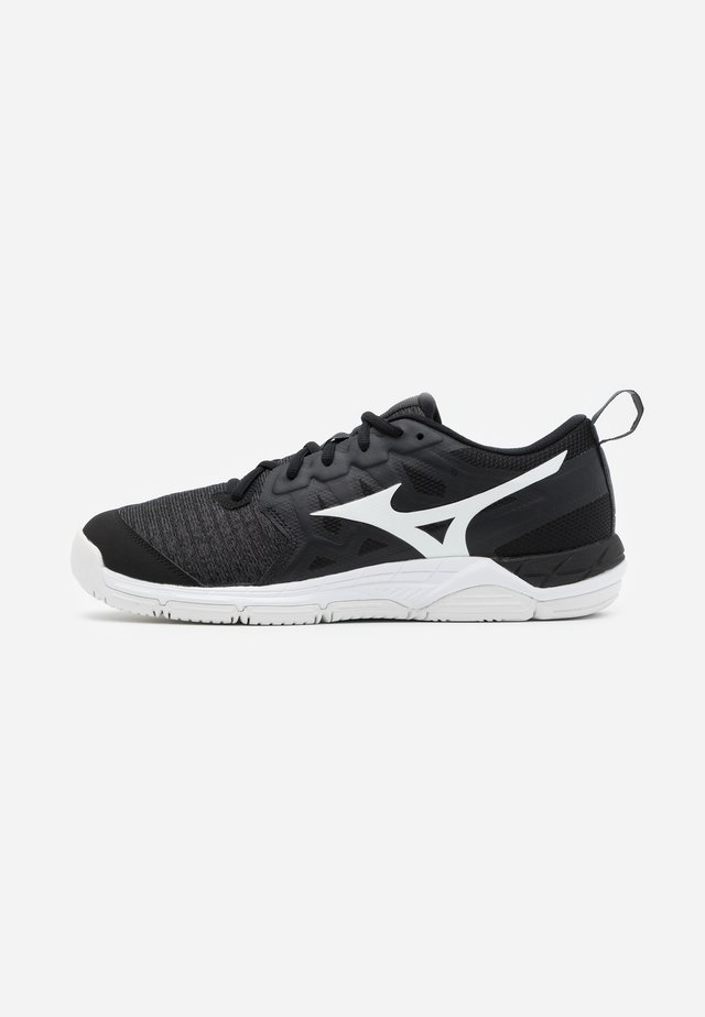 WAVE SUPERSONIC 2 - Chaussures de volley - black/white/dark shadow