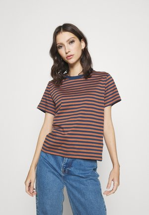 MYSEN STRIPES - T-shirts med print - mocha brown