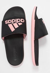 adidas Performance - ADILETTE CF LOGO - Pool slides - core black/glow pink - 1